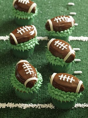 Football Food - 9 -cupcakes take the cake