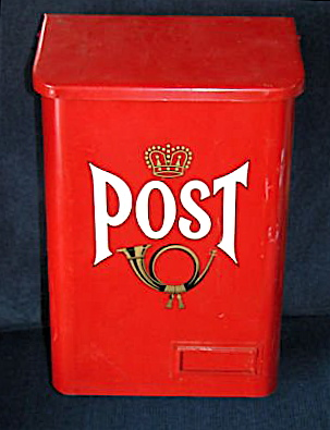 Vintage-red-steel-mailbox-mail-post-box-from-sweden_250744366223
